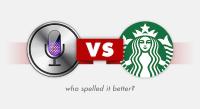 Siri vs. 星巴克,誰比較會聽音拼字?
