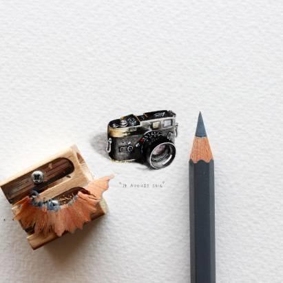 一天一畫作,極小袖珍水彩藝術