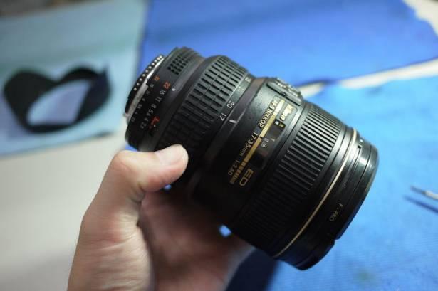 [NRC] 維修掉入水中Nikon 17-35mm F2.8D ~~再次用水煮大法