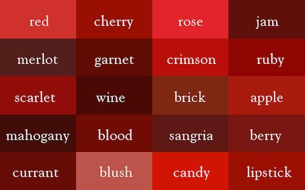 更精準的形容色彩,豐富的顏色字庫