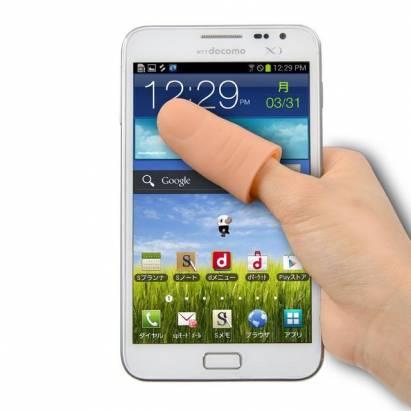 會不會覺得5.5吋手機螢幕太大?來這根就對了,指型手寫筆放大你的大拇指