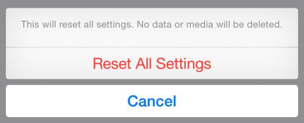 iOS 8 超危險錯誤: 按錯設定即刪除所有重要檔案