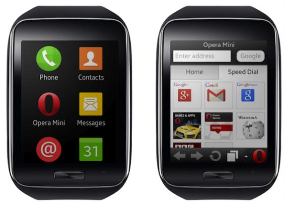 智慧手錶感覺越來越忙! Opera 推出 Samsung Gear S 首個網路瀏覽器