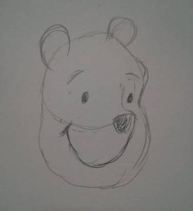 簡單四步驟,手殘也可以畫出小熊維尼!