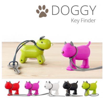 """鑰匙你在哪~拍拍手會 """"汪汪叫"""" 回應的狗型鑰匙圈"""