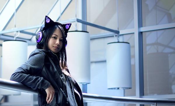 要萌也要帥氣,科技感十足的貓耳揚聲器