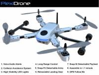 想要空拍或是空中錄影嗎?也許PlexiDrone這款四旋翼機是個不錯的選擇