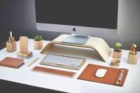 提升辦公桌的優雅質感,木製電腦桌面組
