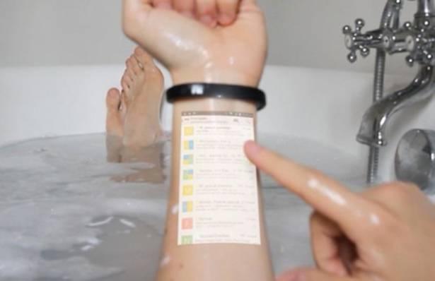 型到爆!Cicret 智能手環將輕觸式螢幕投射到手臂