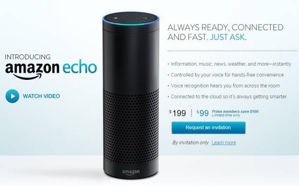 亞馬遜發表兼具數位互動助理的揚聲器 Echo ,從天氣預報到聽音樂一手包辦