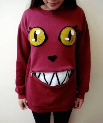 快挖出衣櫃裡的舊衣服~用拉鍊改造成超搶眼貓咪T-Shirt!