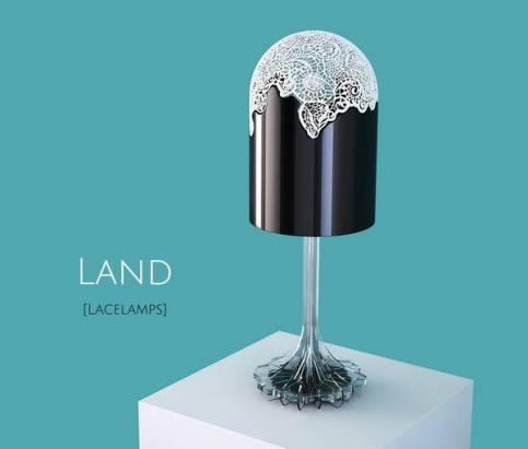 3D列印的蕾絲燈罩,把室內空間變成夢幻王國