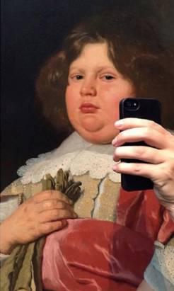 大人物也愛自拍?博物館惡搞名畫