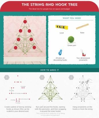 塑膠樹退散,六個超簡單的 DIY 自製聖誕樹
