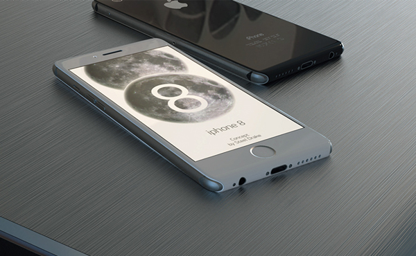 四年之後的 iPhone: 超炫玻璃 iPhone 8 設計 [圖庫]