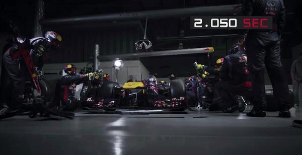 紅牛車隊以放慢49倍的速度,來告訴你F1賽車進站時的這世界紀錄2.05秒瞬間發生了什麼事