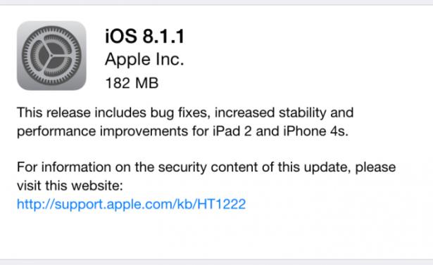 iOS 8.1.1 正式發放: 舊 iPhone / iPad 的福音
