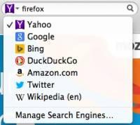 Firefox 新搜尋策略:強化選擇與創新