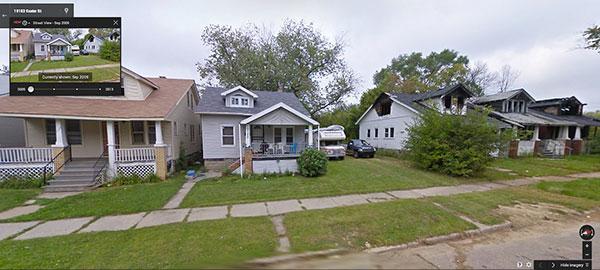 由 Google Maps 來看消失的底特律