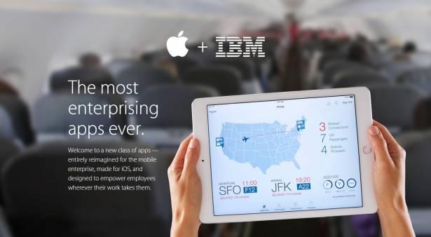 IBM 與蘋果合作的首波商務 app 出爐,強調滿足企業安全性需求