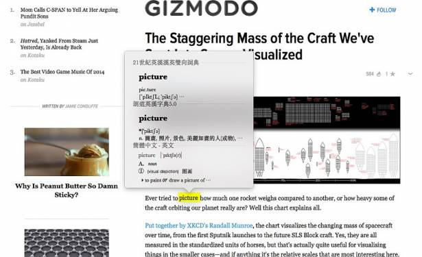 [蘋果急診室] 英文單字看不懂?用「強化版」Mac 內建辭典就能幫你即時翻譯囉!