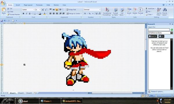 22張很難想像能夠以微軟Excel軟體繪製出來的美術神作