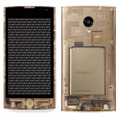 全透明外殼設計, KDDI 發表 au Fx0 Firefox OS 手機