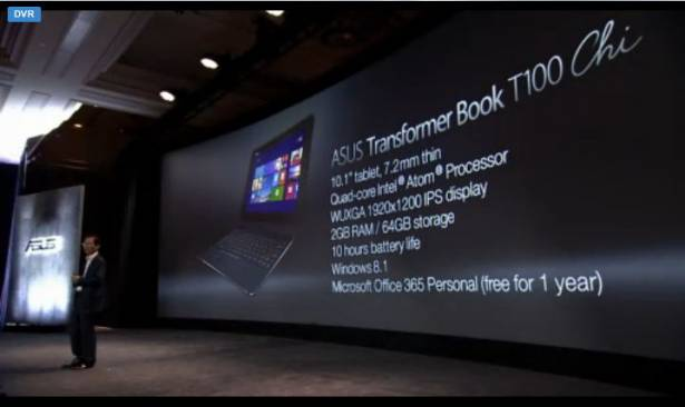 CES 2015 :華碩發表超薄的平價二合一 PC 產品 TransformerBook Chi ,提供 8.9 、 10 吋與 12.5 吋三選擇