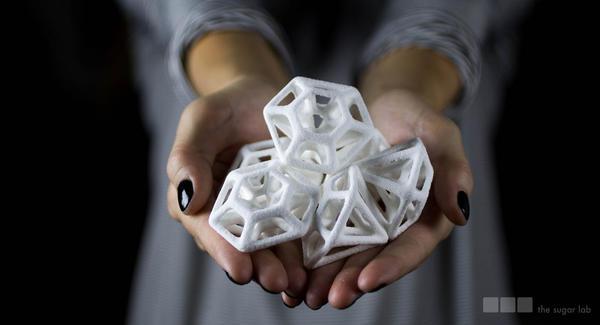 也可以用3D列印來製成糖,有著變化多端的樣貌