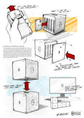 模組化手機的延伸應用: PUZZLEPHONE 打算將用不到的運算模組湊成超級電腦