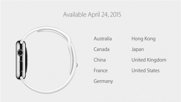 Apple Watch 4月24日開賣以及一些有趣的應用