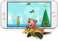 """知名照片 """"黃鼠狼騎著啄木鳥飛行"""" 變成手機遊戲了"""