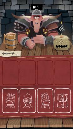 可愛的德國風格,以中古世紀為背景的桌遊 APP《Card Crawl》