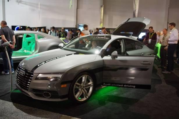 GTC 2015 : Audi 展示 A7 自動駕駛車,以及示範 Drive PX 的攝影機擺放參考
