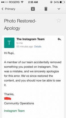 Instagram 下架了她「見不得人」的照片,但你知道是哪一張嗎?