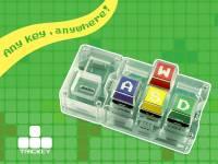 使創意工作者桌面簡化的小玩意,只有六個按鍵的 Trickey Key 積木鍵盤