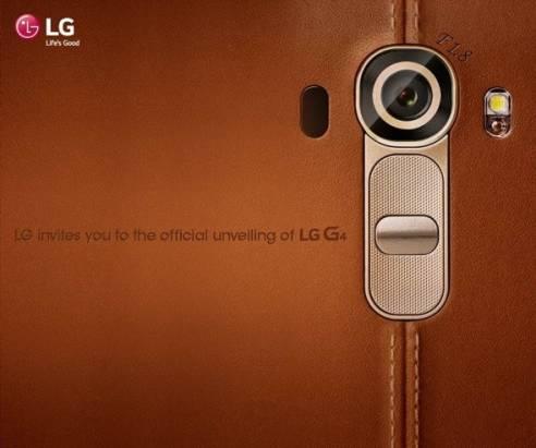 LG G4 將於四月底推出,暗示具 f1.8 大光圈鏡頭與皮革風背蓋