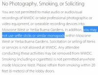自拍棒惹人厭!?蘋果規定 WWDC 禁用自拍棒