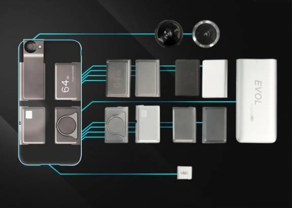 有那麼點與 Project Ara 致敬味道的 iPhone 模組擴充式保護殼: EVOL