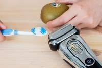 百靈刮鬍刀有多神?請收看:Braun Series 9 評測之「奇異果+牙刷刮毛極限大挑戰」!
