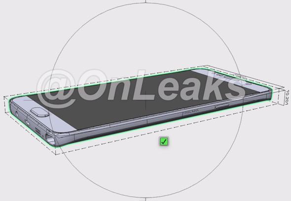 疑似三星 Galaxy Note 5 3D 模型圖曝光,疑似電池採不可替換設計