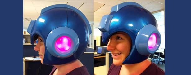 當洛克人好簡單!1:1的洛克人頭盔於聖地牙哥動漫展亮相!