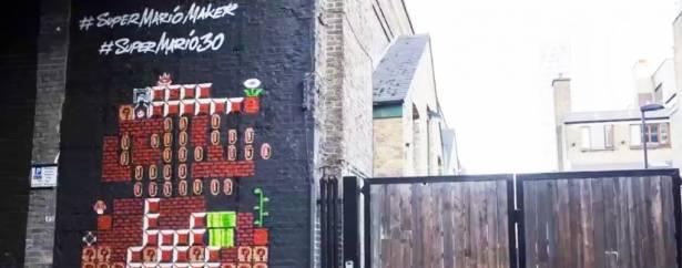 30歲生日快樂!英國任天堂在倫敦Shoreditch打造一座「瑪利歐之牆」為他慶生