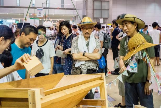 面白日本] 日本 Maker Faire Tokyo 特輯:純機械的浪漫(上)木製全自動大豆選豆機