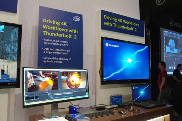 Intel 在 SIGGRAPH 展示 GPU 技術之餘不忘推廣 Thunderbolt 於專業影像儲存與編輯的優勢