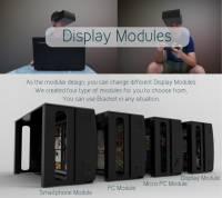 以模組化結合手機 電腦 微電腦 顯示器的四位一體頭戴顯示器 Bracket