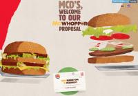 漢堡王力邀麥當勞合作一款混血漢堡 McWhopper,但麥當勞的回應...
