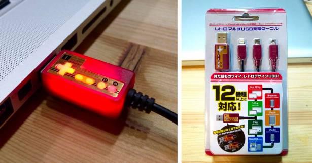[開箱]紅白機造型復古風USB充電線