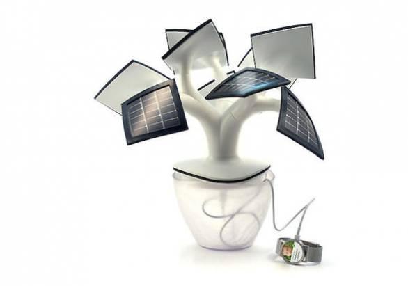 能源界的光合作用,小盆栽造型的太陽蓄電裝置