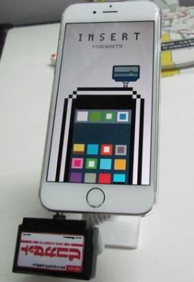 讓手機瞬間變回紅白機~Pico Cassette讓卡帶插上耳機孔就能玩